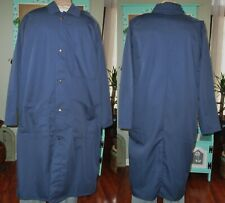 """Dickson Lab Coat Gown Snaps W/ 3 Pockets 45"""" Length Sz Xl to 4X Navy Blue"""