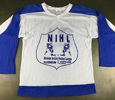 Vintage Mens S 80s 90s In-Line Skates Hockey League NIHL Norman Graphic Jersey