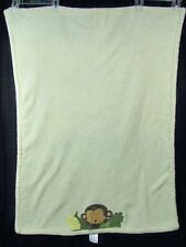Kidsline Jungle 123 Monkey Printed Boa Baby Blanket Cream Ivory Fleece Soft