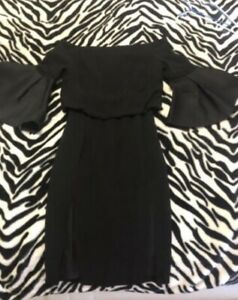 Rachel Gilbert Black Designer Dress Size 10