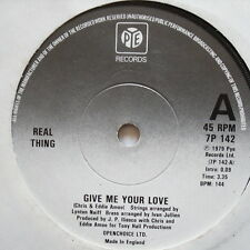 "Cosa real-Dame Tu Amor-Excelente Estado 7"" Single 7P 142"
