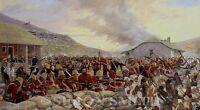 BATTLE OF RORKES DRIFT ZULU WAR VC ART PRINT 24TH FOOT BY SIMON SMITH