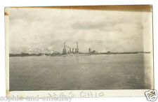 1914 RPPC - USS Ohio Docked in New Orleans During Carnival