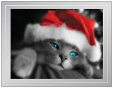 20 CHRISTMAS Grey SANTA Cats Cat in Hat Kitten KITTY Greeting Post Cards