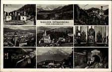 Hallein Dürrnberg Österreich Salzburg 1954 Mehrbildkarte Bergwerk Kirche Salzsee