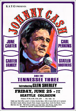 JOHNNY CASH JUNE CARTER CARL PERKINS STATLER BROS 1971 Seattle Concert Poster
