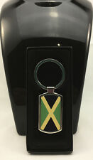 Jamaica Flag Design on Metal Hexagonal shape Keyring