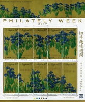 Japan 2017 MNH Philately Week Irises Screens Ogata Korin 10v M/S Art Stamps
