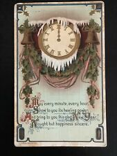 H. Wessler Antique New Year Embossed Metallic Gold Post Card 1910