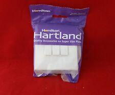 Hamilton 7WCR23WH-W Blanco Brillante Blanco Insertar 3G 3 Gang Sin Tornillos Interruptor 10A