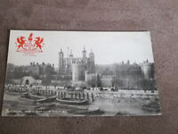 Early Tuck Postcard - interesting river scene & Tower of London - Heraldic