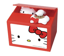 Hello Kitty Piggy Bank Savings Box moneybox Gimmick box Japan New Figure