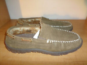 NEW Mens 13 Clarks Brown Suede Leather Moc Toe Deck Boat Driving Slippers Shoes
