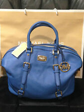 Michael Kors MK Authentic Women's genuine leather Large Satchel handbag $398+new