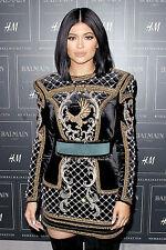 BNWT BALMAIN x H&M Black Gold Velvet Embroidered Beads Eagle Dress EUR 32 US 2