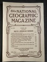 (REPRINT!) National Geographic Magazine August 1906 Vol. XVIII No.8 With Map