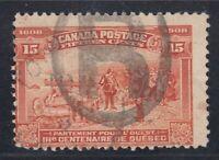 "Canada Scott #102 15c Champlain's Departure ""Quebec Tercentenary""  F"