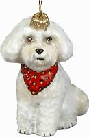 GOLD FILIGREE EARRINGS Jewelry BICHON FRISE DOG Pet Cut