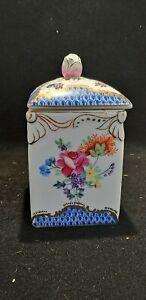 Vintage Moyses Stevens Ceramic square lidded pot