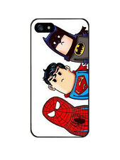 iPhone 5/5s/SE funda carcasa dura rigida dibujos spiderman superman batman