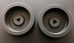 "PAIR - Genuine TANDBERG -  NAB HUB Adaptors 10.5"" Reel for 1/4"" Tape Deck"