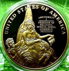 FIRST AMENDMENT COMMEMORATIVE COIN PROOF VALUE $79.95