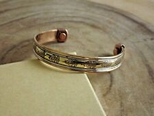 Copper Magnetic Bracelet Arthritis Pain Therapy Energy Cuff Bangle Buddha