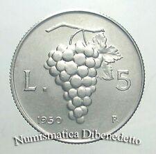 Repubblica Italiana - 5 Lire Uva dal 1948 al 1950 da BB a FDC