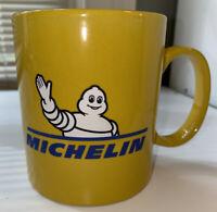 Michelin Coffee Mug, Mustard Yellow, Collectable, Car Tire Man, Tea Cup