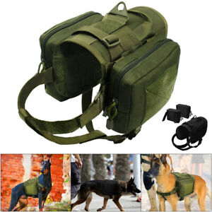 No Pull Military Tactical Dogs Harness w/ Pouches Molle K9 Working Dog Vest Wear
