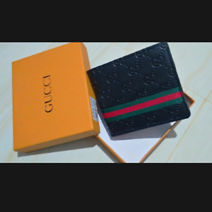 Gucci Wallet For Men's High Quality Used Luxury Grade Bifold Wallet Box Card