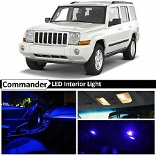 12x Blue LED Lights Interior Package Kit 2006-2010 Jeep Commander