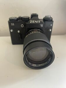 Zenit 11 Camera With Prinzflex 135mm 2.8 Lens In Good Condition