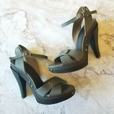 MARNI Gray Platform Heel Sandals Sz 7