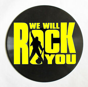 "Deko-LP Queen ""We will rock you"" - Wandbild Schallplatte Party Musik"