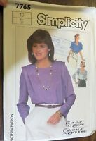 Simplicity sewing pattern no.7765 girls blouse size 10 vintage