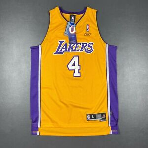 100% Authentic Luke Walton Reebok Lakers Jersey Size L Mens kobe