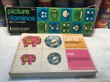 Vintage 1960s Creative Playthings Learning Lotto and Picture Dominoes