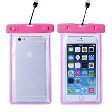 Housse étanche transparente et fluorescente pour iPhone 5  - norme IPX8 - Rose