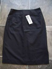 BNWT Women's Tussoni Black & Grey Polyester Straight Skirt Size 8