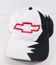 Chevrolet Chevy Cap Hat Black Red White Flame Adjustable Strap Kati