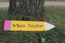 Personalized teacher sign, back to school teacher gift, teacher name pencil sign