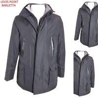 Giubbotto giaccone uomo lungo invernale soprabito con pettorina M L XL 2XL 3XL