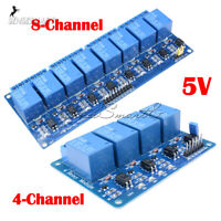 Lot Pcs 5V 4/8 Channel Relay Board Module Optocoupler for Arduino PiC ARM AVR