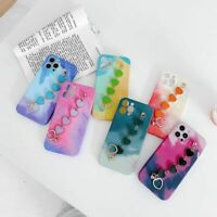 For iPhone 11 12 Pro Max XS XR SE 8 7 Case Love heart Silicone Watercolour Cover