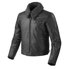 Blousons noires en cuir à dos pour motocyclette