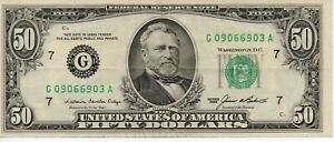 USA 50 Dollar Banknote 1985 As Pictured