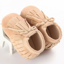 Baby Tassel Soft Sole Leather Shoes Infant Boy Girl Toddler Moccasin 11 US