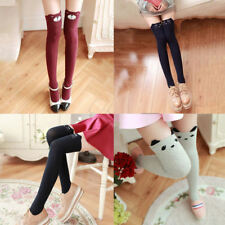 Women Cat Pattern Slim Shape Dual Color Trousers Overknee Legging Stocking Hot