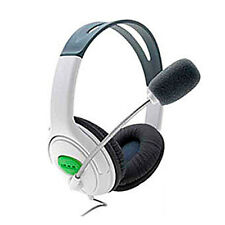 White Big Gaming Chat Headset Headphone with MIC Microphone for Xbox 360 Live